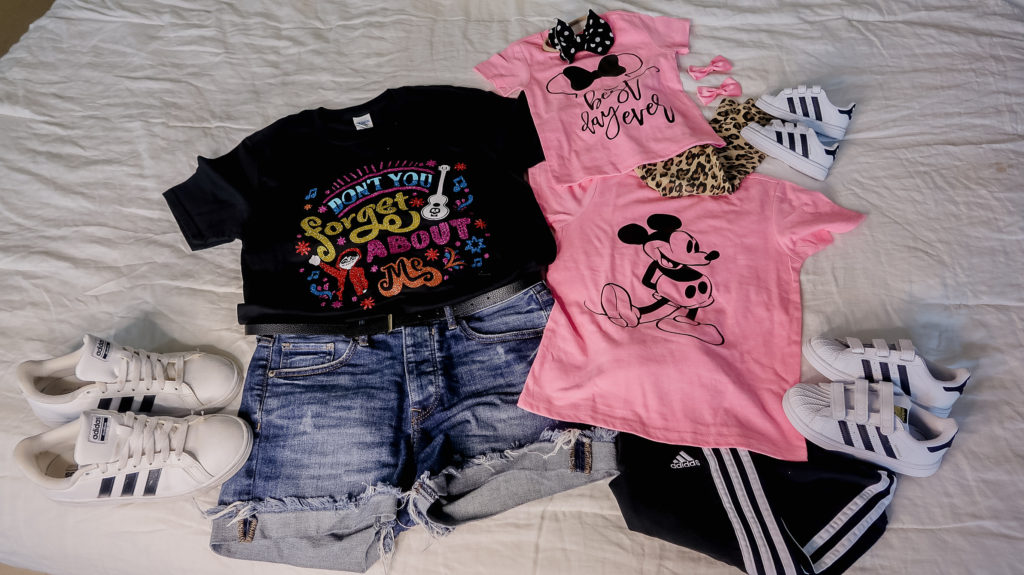 disney Epcot outfit ideas coco don't forget to remember me electric pink mickey Minnie best day ever this vacation made me un poco broke-o mom shirt brother sister coordinating shirts what to wear to disney for a family outfit ideas coordinating disney clothing wardrobe  outfits  Brianna K bitsofbri