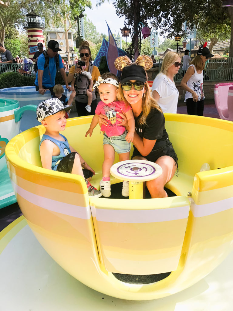 The teacups are always a blast for our kids. They are definitely Presley's favorite ride, so we always make sure to go on them! Disneyland vacation planning tips and tricks from a Disney Pro. Brianna K Bitsofbri bits of bri Cleveland mom blog Disneyland planning advice where to stay what to eat what age to go to disney