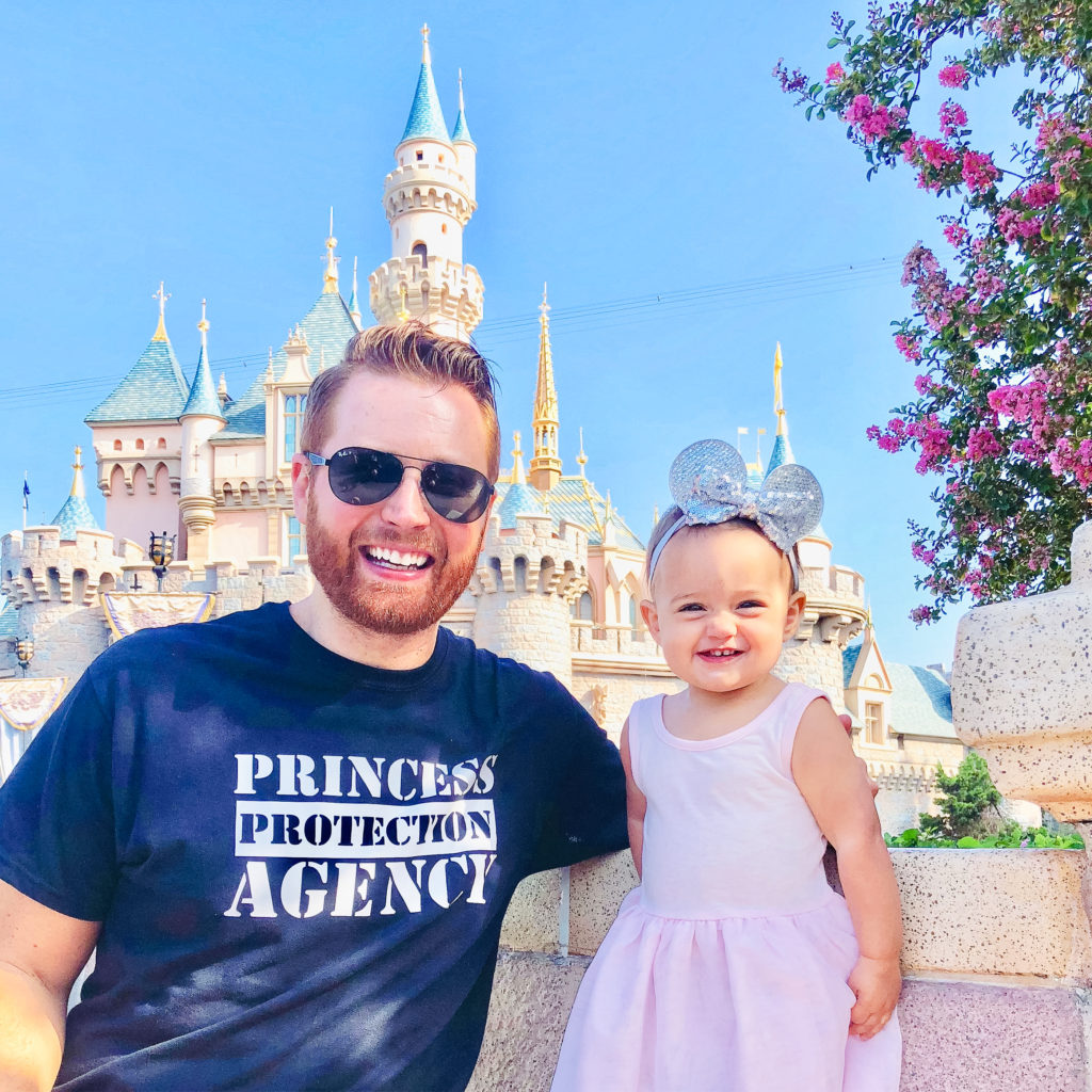 Adam and Presley at Disneyland Park in California in September 2018. Disneyland vacation planning tips and tricks from a Disney Pro. Brianna K Bitsofbri bits of bri Cleveland mom blog Disneyland planning advice where to stay what to eat what age to go to disney