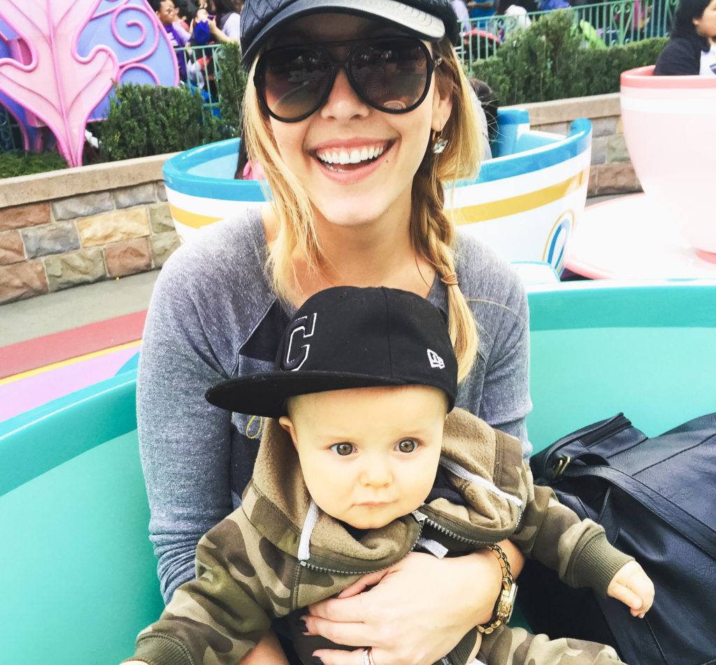 Landon's first ride on the teacups at Disneyland in January 2016. Disneyland vacation planning tips and tricks from a Disney Pro. Brianna K Bitsofbri bits of bri Cleveland mom blog Disneyland planning advice where to stay what to eat what age to go to disney
