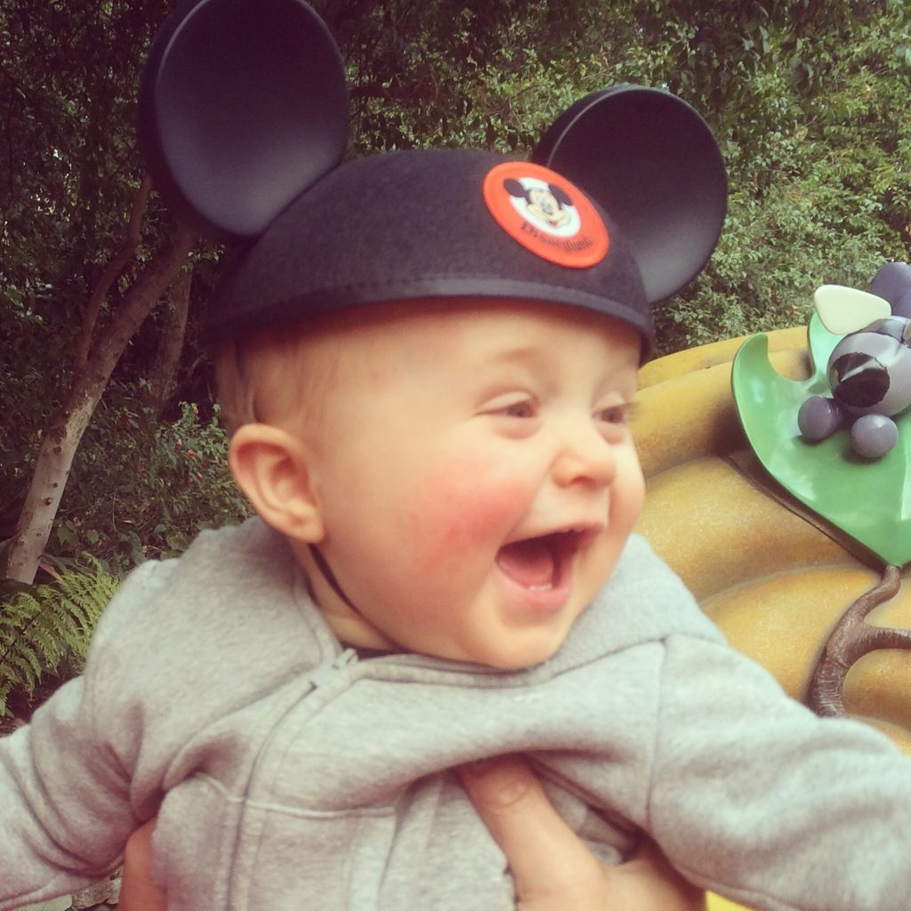Happiest baby at the happiest place on earth! That first trip to Disneyland with Landon is one we'll never forget! Disneyland vacation planning tips and tricks from a Disney Pro. Brianna K Bitsofbri bits of bri Cleveland mom blog Disneyland planning advice where to stay what to eat what age to go to disney