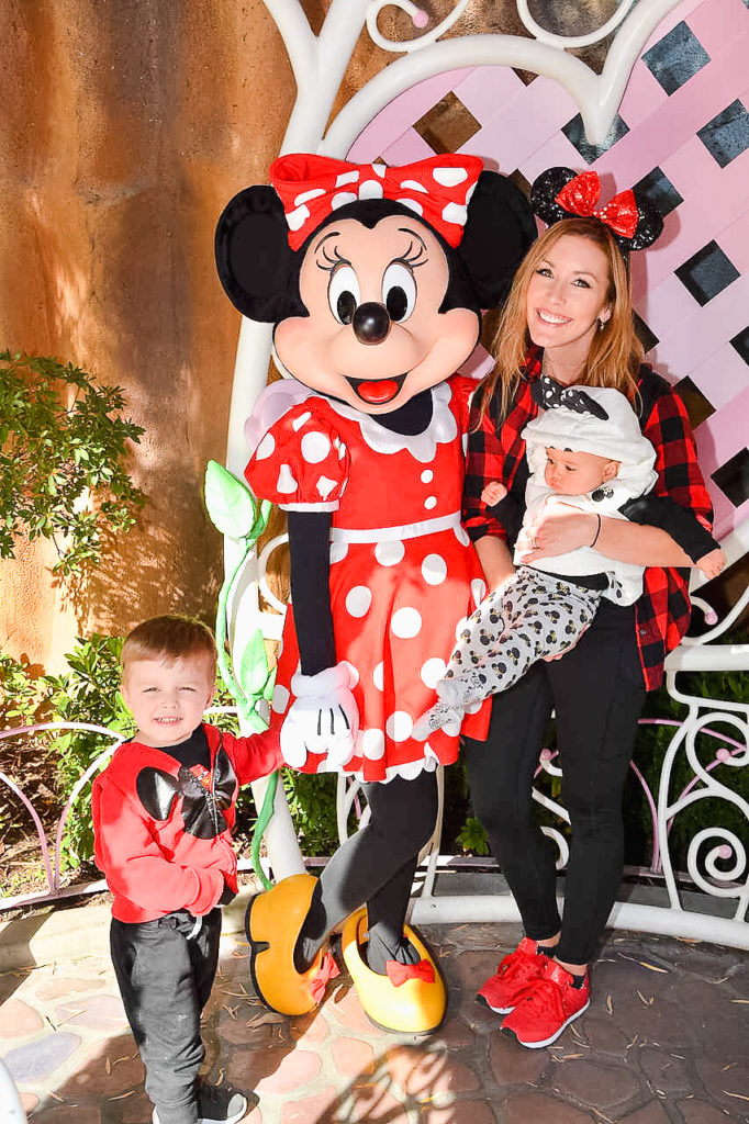 Presley's first time meeting Minnie Mouse! Landon always says he likes meeting Minnie more than Mickey even- they have cute houses you walk though in Toon Town for meeting the characters, and our kids always loved that! Disneyland vacation planning tips and tricks from a Disney Pro. Brianna K Bitsofbri bits of bri Cleveland mom blog Disneyland planning advice where to stay what to eat what age to go to disney