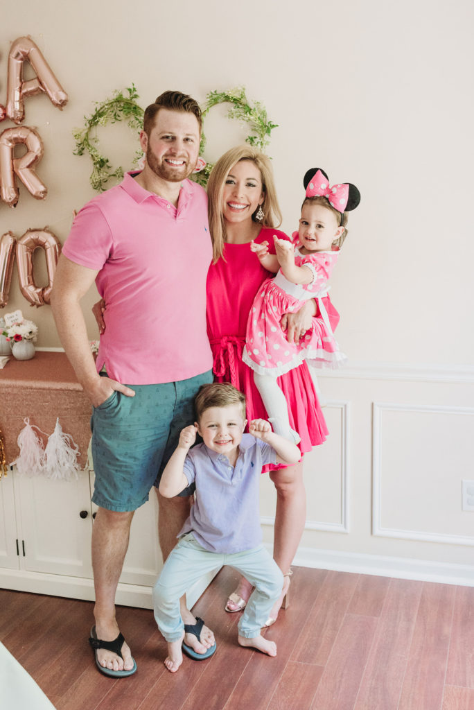 Adam, Presley, Landon, and Brianna K at Presley's two year old birthday party  TEA FOR TWO | PRESLEY'S SECOND BIRTHDAY DECORATIONS + PARTY IDEAS! Brianna K bitsofbri blog
