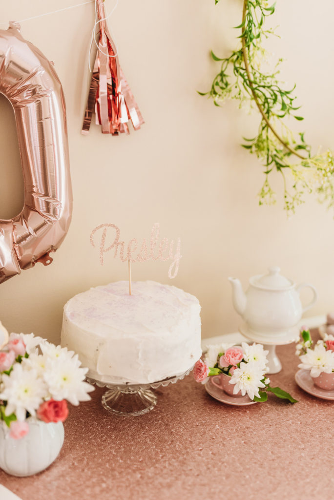 Presley's birthday cake at her two year old birthday party TEA FOR TWO | PRESLEY'S SECOND BIRTHDAY DECORATIONS + PARTY IDEAS! Brianna K bitsofbri blog
