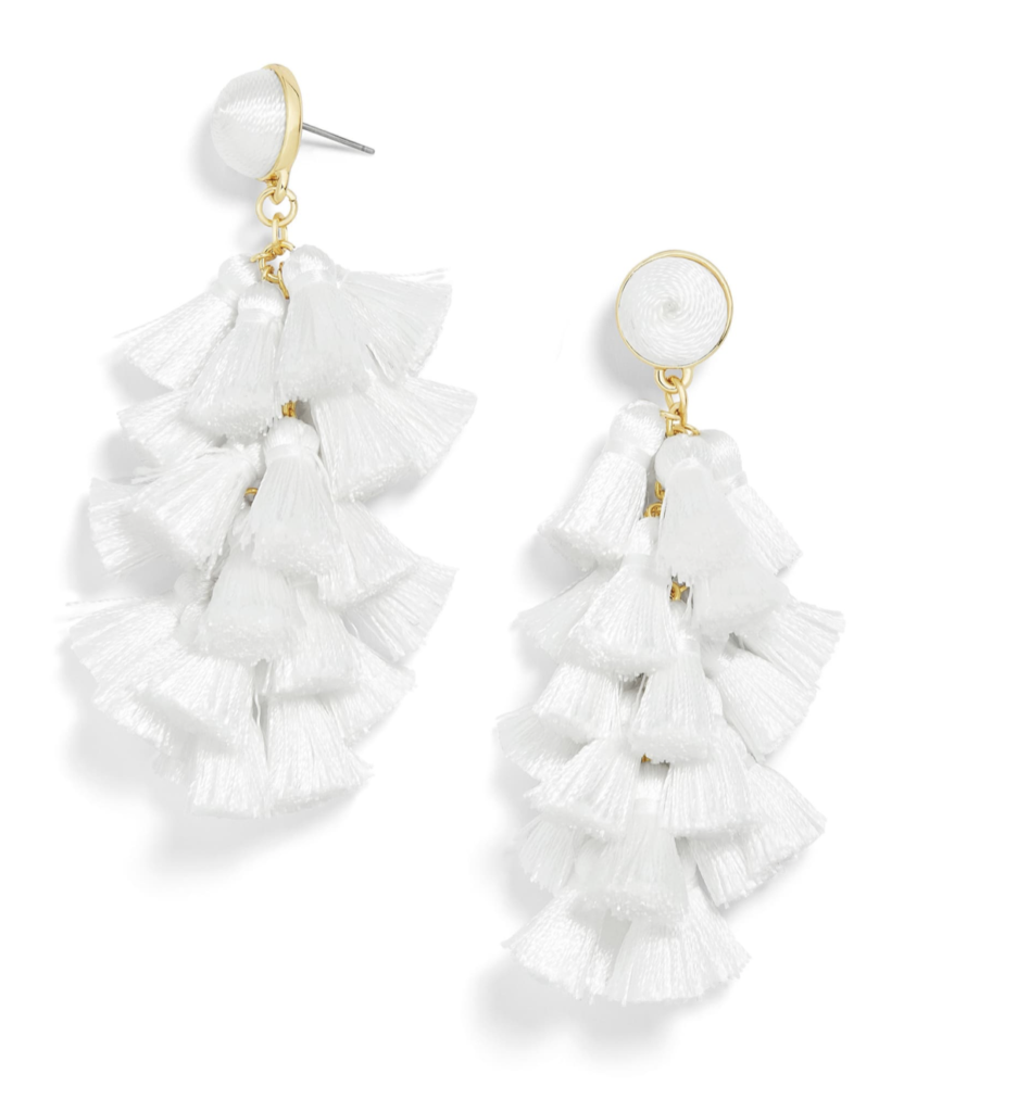 white tassel bauble bar earrings | 10 SUMMER MUST HAVES 2019 BITS OF BRI BLOG BY BRIANNA K
