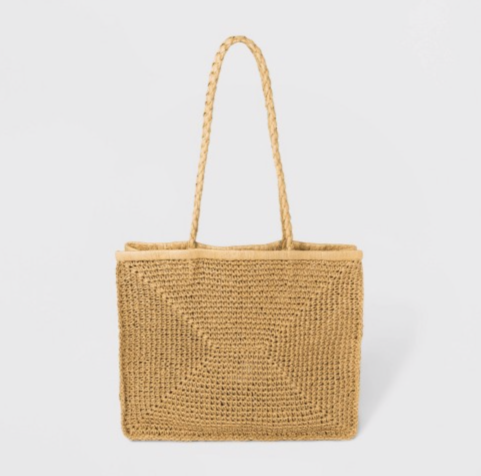Straw beach tote from Target   10 SUMMER MUST HAVES 2019 BITS OF BRI BLOG BY BRIANNA K