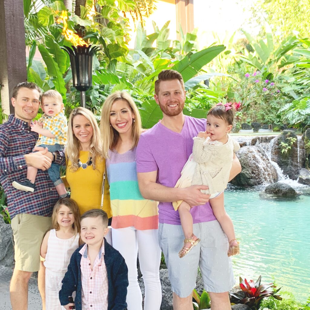 Brianna K Adam Landon Presley and friends Deena Scott Carli and Lucas at Disney's Polynesian Resort hotel. Favorite resorts at Walt Disney World Bits of Bri Blog Disney tips and tricks series