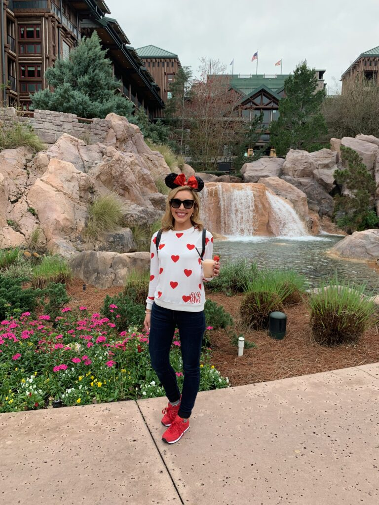 Best snacks you have to try at Walt Disney World   Disney Blog series by Brianna K bits of bri blog  Brianna K with a frose at Wilderness lodge resort at Walt Disney world