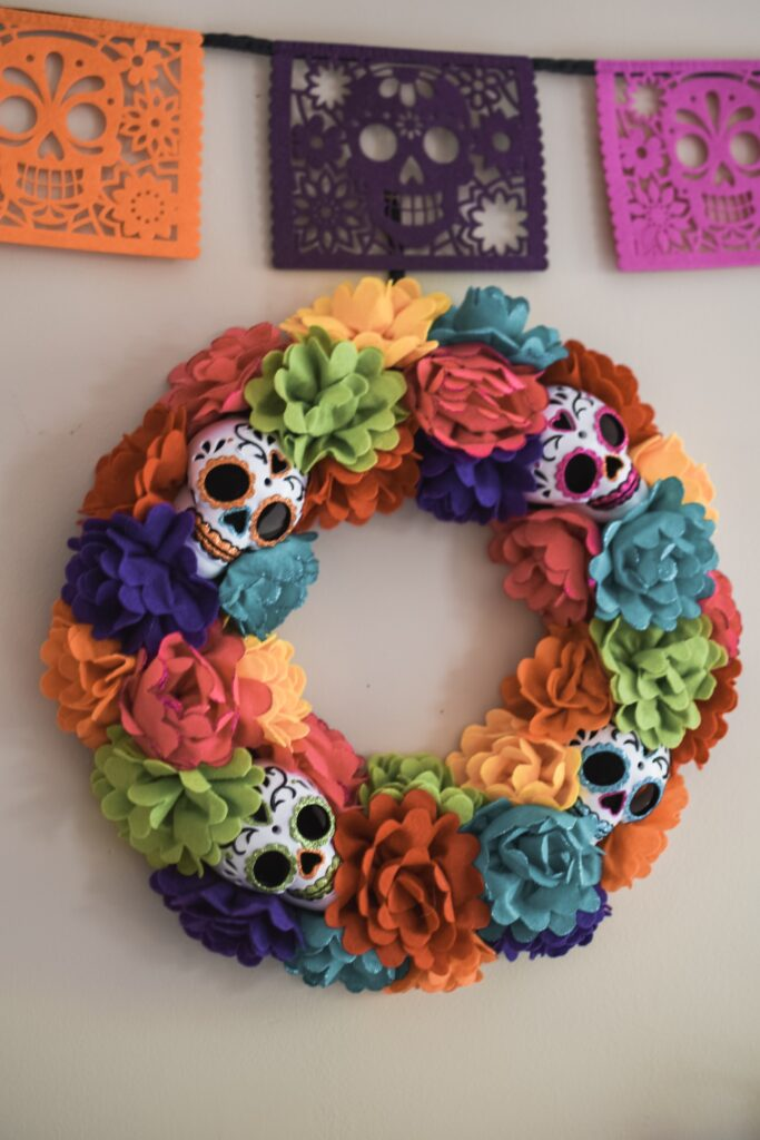 dia de los muertos day of the dead coco inspired decorations HALLOWEEN HOME DECOR | FALL 2019 HOUSE TOUR | BITS OF BRI CLEAN AND DECORATE WITH ME Brianna K CLEANING MOTIVATION DECOR INSPIRATION