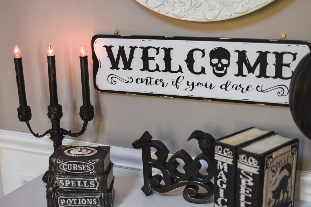 Foyer table decor ideas for halloween. HALLOWEEN HOME DECOR | FALL 2019 HOUSE TOUR | BITS OF BRI CLEAN AND DECORATE WITH ME Brianna K CLEANING MOTIVATION DECOR INSPIRATION