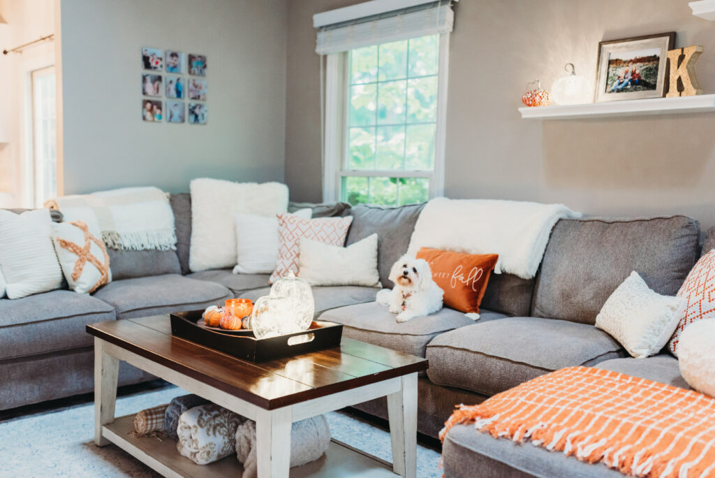 fall family room decor ideas Brianna K bits of Bri bitsofbri with a pumpkin for fall clean and decorate with me 2019 fall decor fall decoration ideas