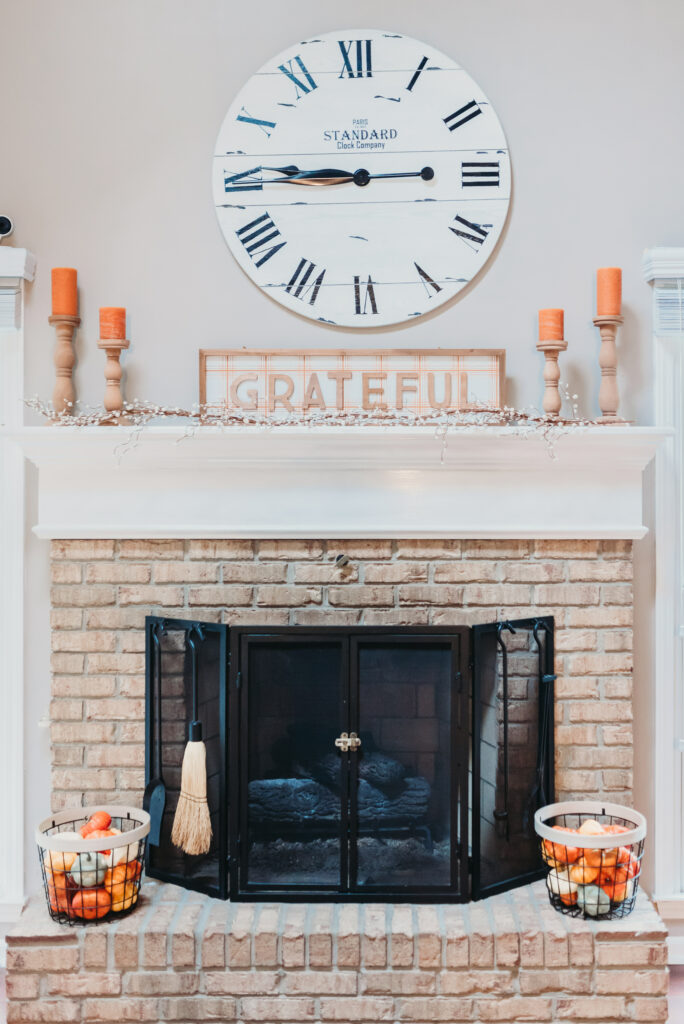 fall mantle decor ideas Brianna K bits of Bri bitsofbri with a pumpkin for fall clean and decorate with me 2019 fall decor fall decoration ideas