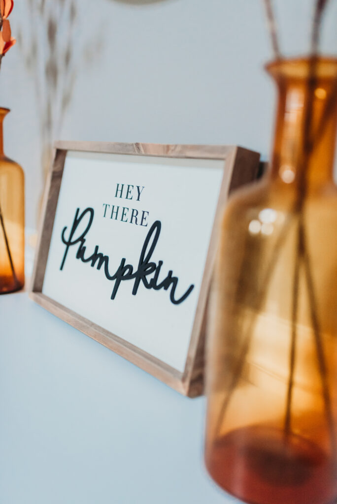 fall foyer table decor ideas Brianna K bits of Bri bitsofbri with a pumpkin for fall clean and decorate with me 2019 fall decor fall decoration ideas farmhouse style