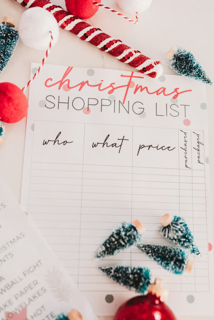 Christmas shopping list Brianna K bitsofbri free printable Christmas 2019