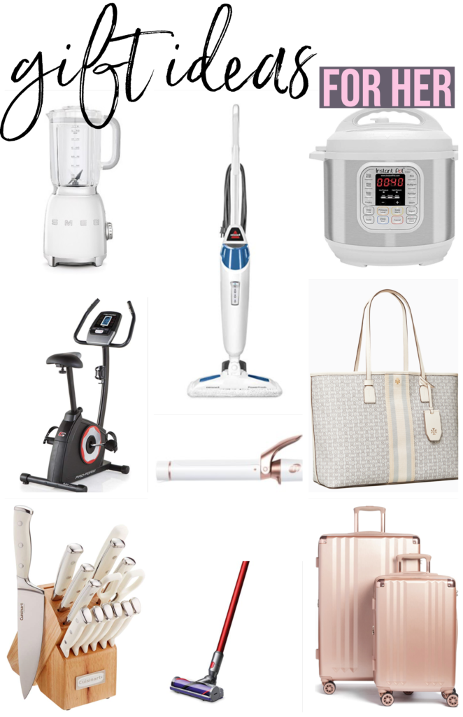 Luxury gift ideas for her if you're looking to splurge for Christmas 2019 smeg blender white instant pot bissell steam mop Dyson cordless vacuum tory burch purse calpak rose gold luggae white cuisinart knife set proform exercise bike t3 curling iron