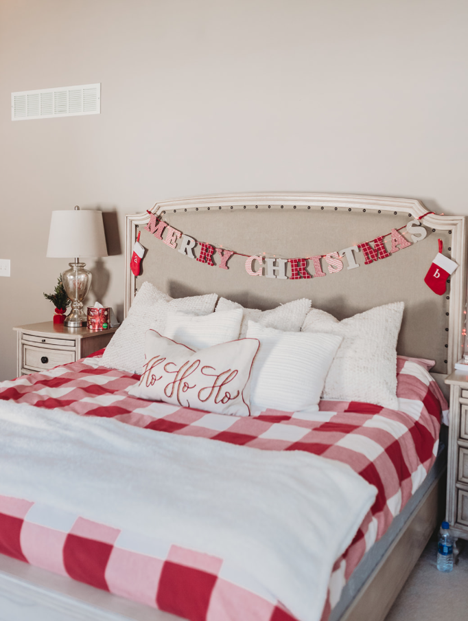 christmas bedding home decor Inso Brianna K bitsofbri blog christmas clean and decorate with me 2019
