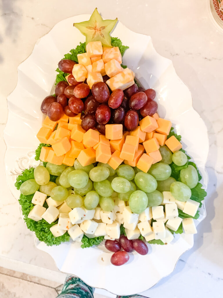 Cheese Christmas Tree Christmas party food ideas | Brianna K Bits of Bri Blog