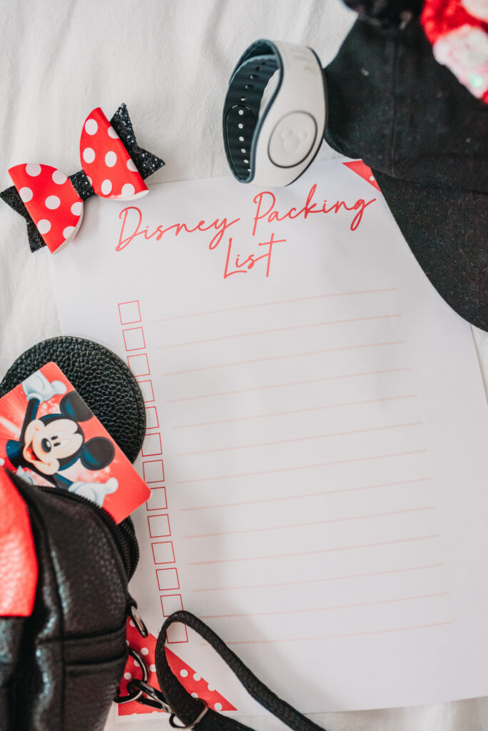 ultimate disney packing list what do I pack for disney what to pack for disney world Brianna k bitsofbri bits of bri talk disney to bri free printable disney world