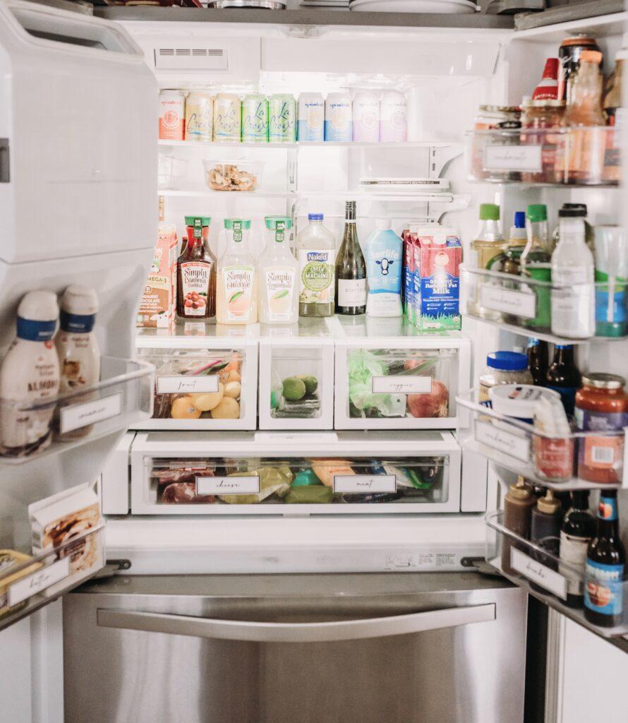fridge organization refrigeration organizing ideas and inspiration Brianna k bitsofbri rainbow order organization